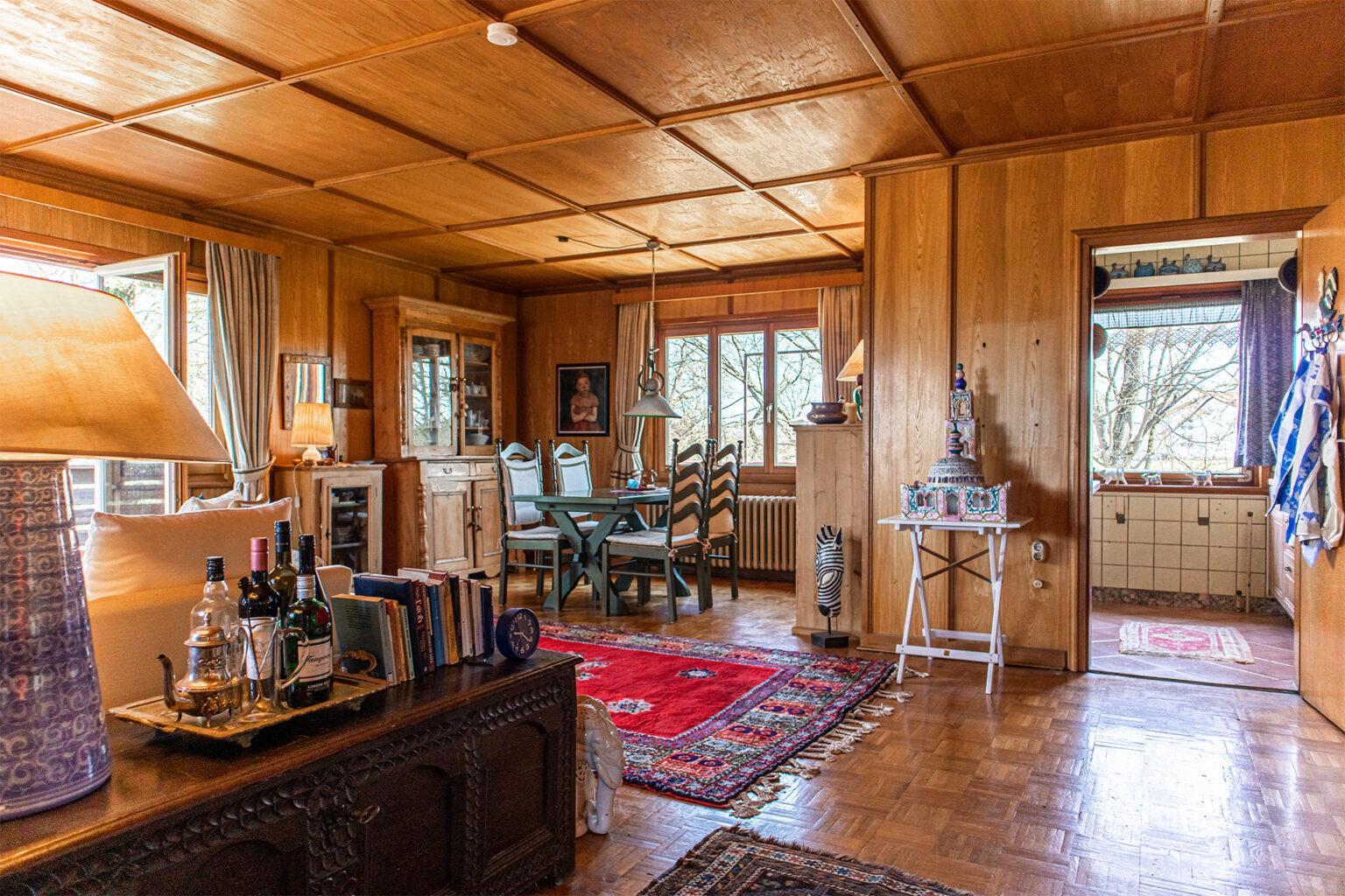 Blick in den Wohnraum des Hauses