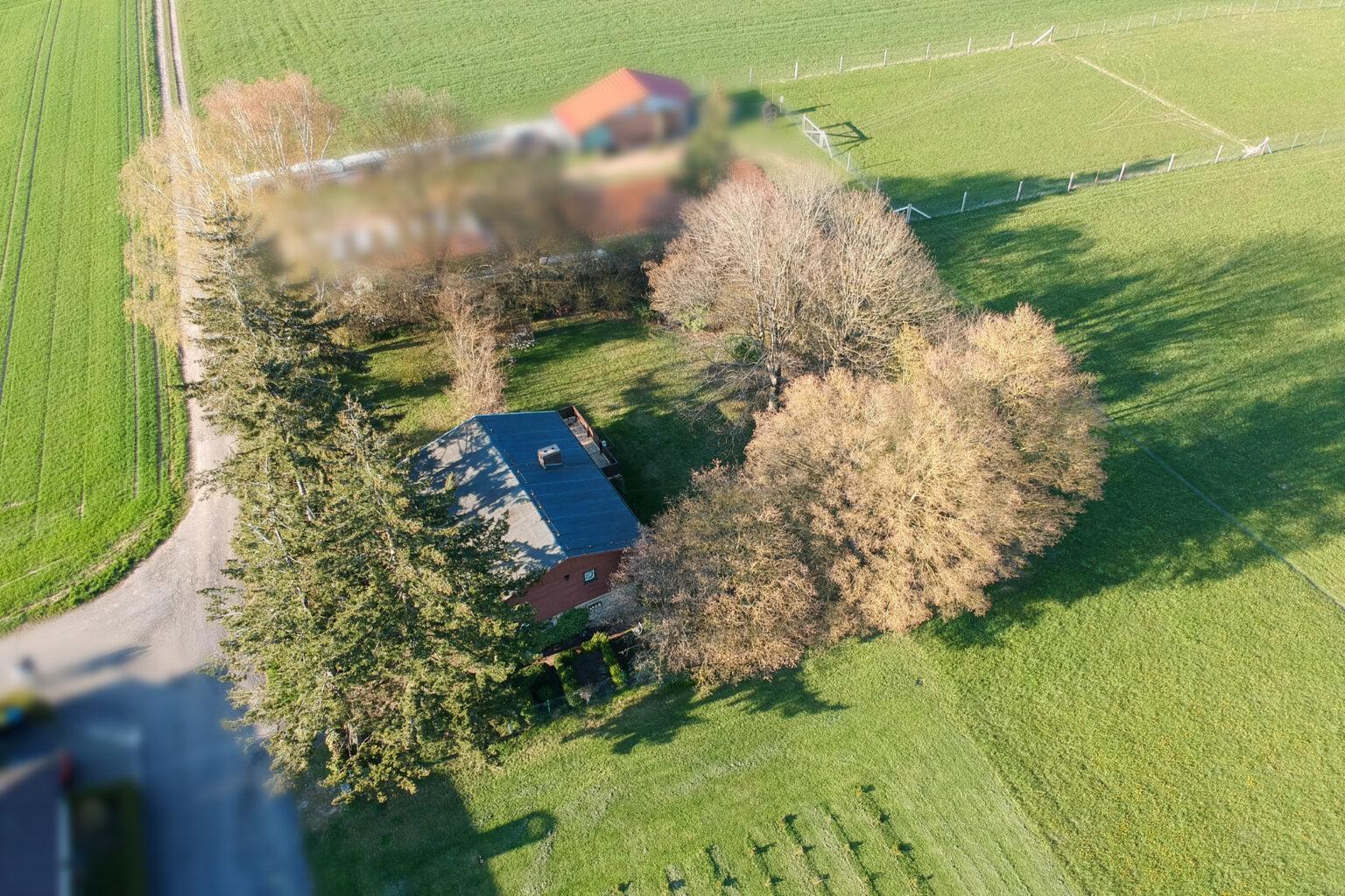 Luftbildaufnahme der Immobilie